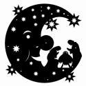 Mond mit Christi Geburt