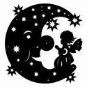 Mond mit Elfe