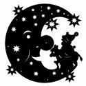 Mond mit Nikolaus und Esel