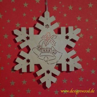 Weihnachtsstern-Schneekristall-3erGlocke