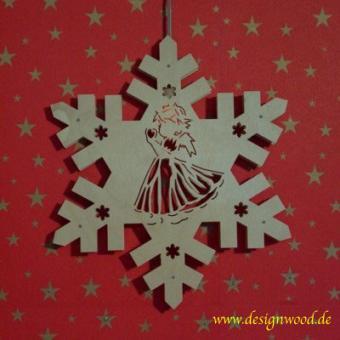 Weihnachtsstern-Schneekristall-Engel