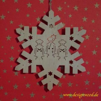 Weihnachtsstern-Schneekristall-Kurrende