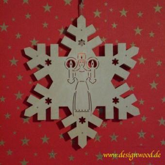 Weihnachtsstern-Schneekristall-Lichterengel