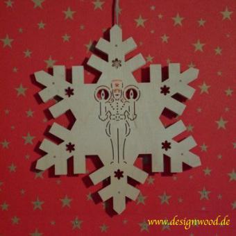 Weihnachtsstern-Schneekristall-Bergmann