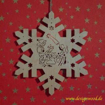 Weihnachtsstern-Schneekristall-Kinderlein