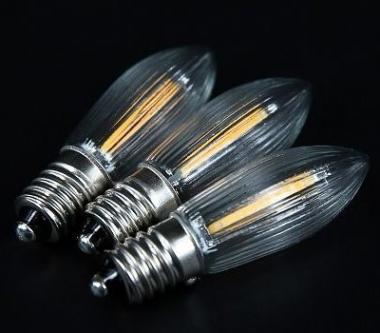LED-Filament-Riffelkerze