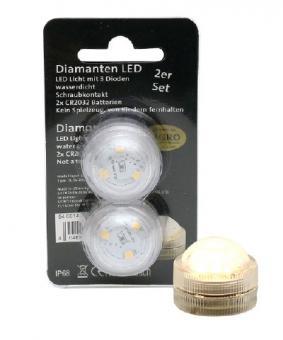 2er Set LED-Tauch-Teelicht