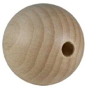 Holzkugel, Buche, gebohrt 15mm