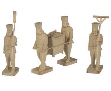 4 Bergmänner mit Erz 12cm