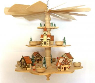 Advent-Deckenpyramide Weihnachtsmarkt