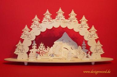 3D-Weihnachtszeit Laubsägevorlage 59x30cm