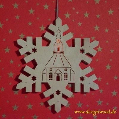 Weihnachtsstern-Schneekristall-Seiffen