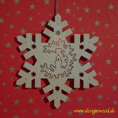 Weihnachtsstern-Schneekristall-Adventskranz