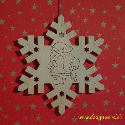 Weihnachtsstern-Schneekristall-Weihnachtsmann