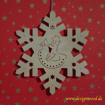 Weihnachtsstern-Schneekristall-Reiterlein