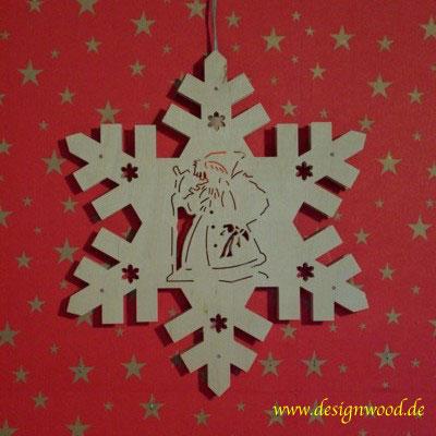 Weihnachtsstern-Schneekristall-Nikolaus