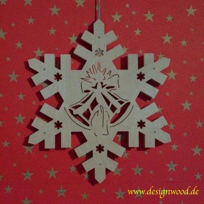 Weihnachtsstern-Schneekristall-Glocke