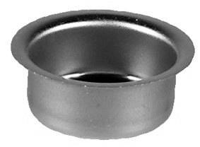 Metalleinsatz 40mm, tief-silberfarbig