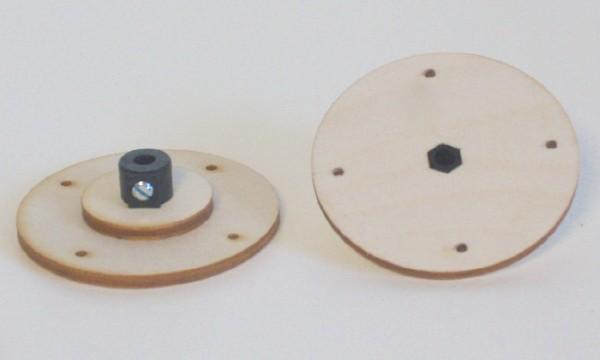 Stellring 4mm mit Auflage-Sperrholz