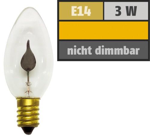 Flackerkerze E14/230V/3W-klein
