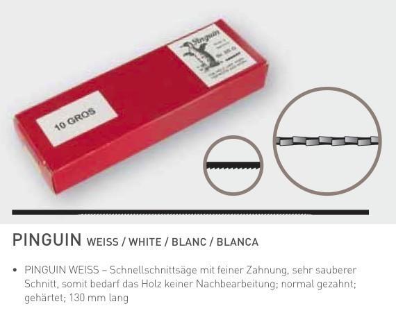 "Gros-LS-Blätter ""NIQUA Pinguin Weiß"""