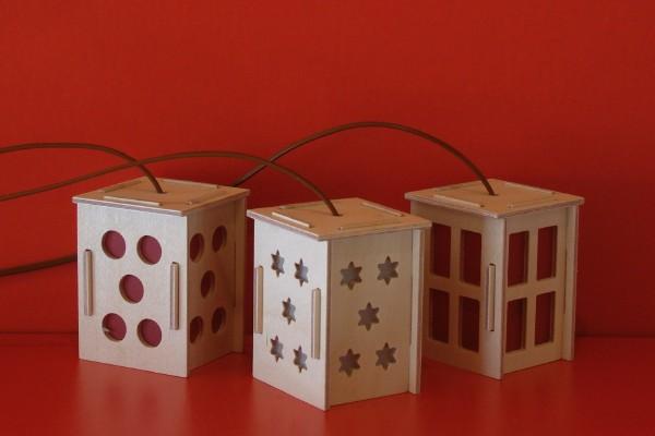 Holzlaterne, viereckig, 35mm