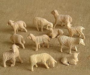 Schafgruppe 3-4cm, 11-teilig