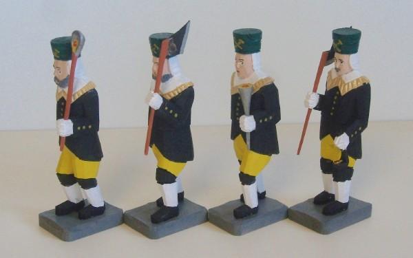 4 Bergmänner farbig 12cm-Variante 2