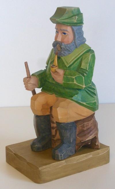 RM-Jäger geschnitzt-bemalt