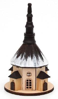 Kirche Seiffen groß-schwarz Schnee (SG)