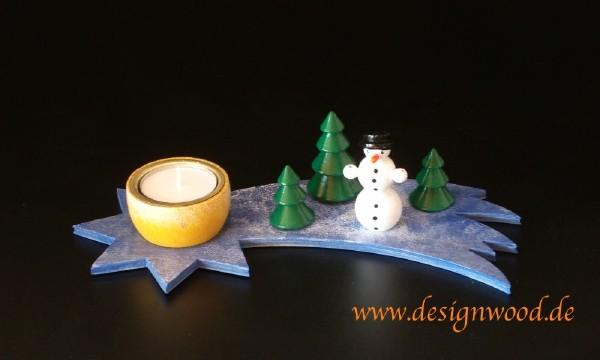 Bausatz-Teelichtleuchter-Schneemann