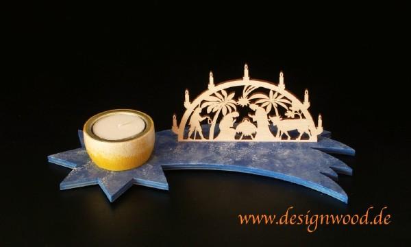 Bausatz-Teelichtleuchter-Minischwibbogen