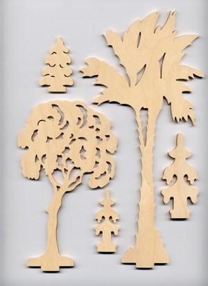 Laubsägezubehör aus dem Erzgebirge | Baumset Bäume 2 ...